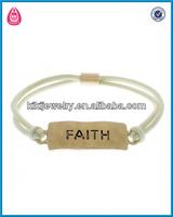 cheap engraved trendy bracelet elastic band nylonrope bracelet(B103638-1)