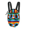 Canvas Stripe Dog Pet Carrier Bag Legs Out Front Style Backpack