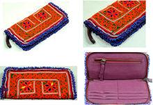 vintage banjara fabric beaded work clutch bag / beautiful wallet