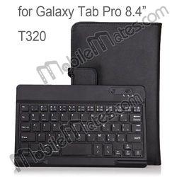 For Samsung Galaxy Tab Pro 8.4 T320 Keyboard Leather Case Detachable Bluetooth Keyboard for Galaxy Tab Pro 8.4 Leather Case