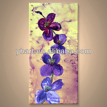 Hot sale excellent quality flower paintings simple wall art for home