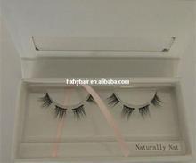 Hand made strip fur real Mink Eyelash high quality semi permanent mascara