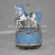 High quality music box gift, mini carousel music box