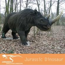 Fiberglass And Fur Rhinoceros Ice Age Animal Model
