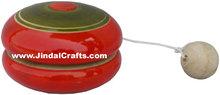 Handmade Hand Painted Eco Friendly Colour Yo Yo Toy India Handicrafts Crafts Art