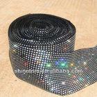 Crystal plastic Rhinestone mesh trimming