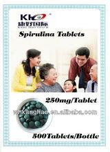 100% Extract Natural Spirulina Tablets