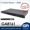 1U Industrial Rack Mount Computer with 4x LAN Port GA8161