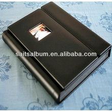 Latest leather cover flush mount photo album making machine