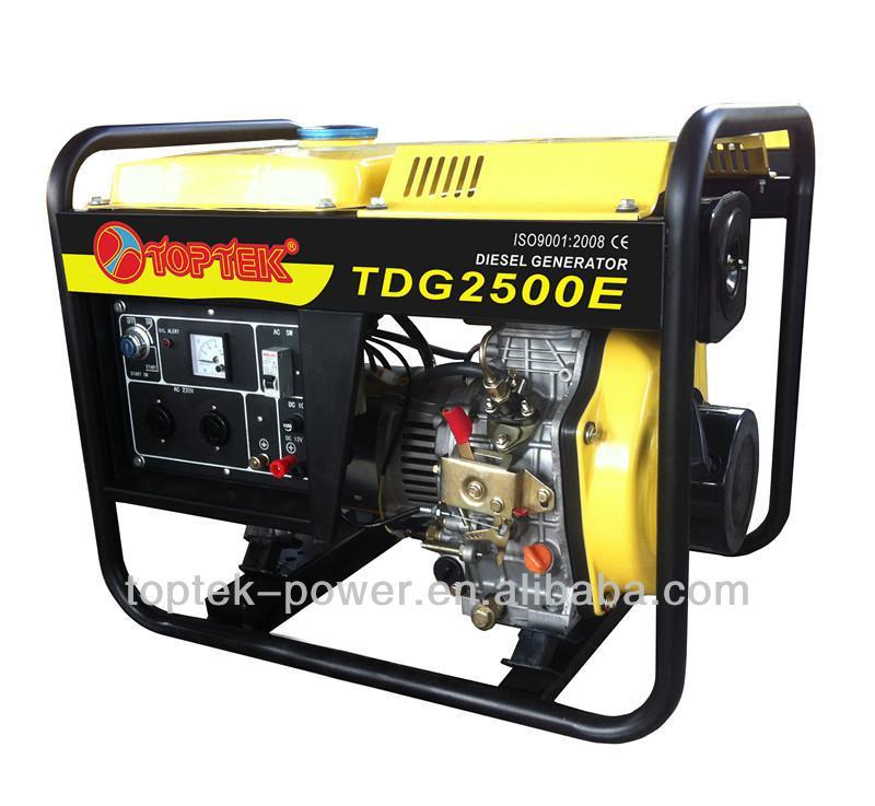 2.5kva DG2500 open type diesel generator