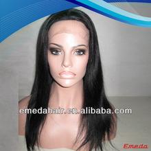 2014 New Products brazilian human hair fashion yaki short glueless lace wig