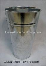 Galvanized steel flower bucket/Flower tub/flower pots wholesale