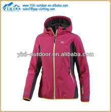 2014 New ladies functional womens hiking waterproof softshell jacket