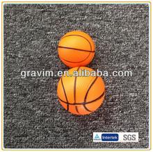 Orange basketball bouncy pu stress balls