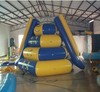 Funny water sports giant inflatable floating water slide