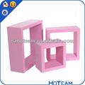 3 prateleiras de parede conjunto do cubo da unidade flutuante de armazenamento sala quadrada cor mdf cubo prateleira de parede