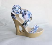 2014 latest design women shoes high heel wedge sandal shoes women 2014 new wedges lady sandals shoes China