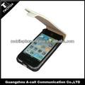 Shockproof telefone celular flip caso de couro capa para iphone4/4s com ímã forte