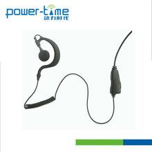 FM transceiver earpiece Intercom earphone 2 way radio headset(PTE-300N)