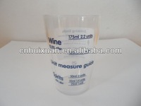 Measuring drinking glass cup