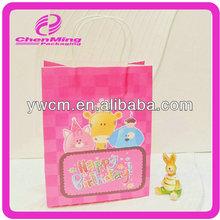 Yiwu custom handle thin paper bags packaging