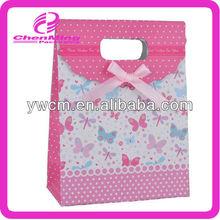Yiwu durable printed die cut paper gift bags with handles