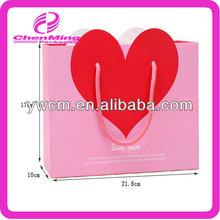 Yiwu wholesale custom printing wholesale pink paper bag