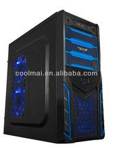 ATX pc case with Blue LED light -V36BL