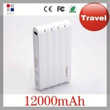 2014 newest high capacity 12000mah Dual USB power bank high quality long lasting power bank for samsung galaxy