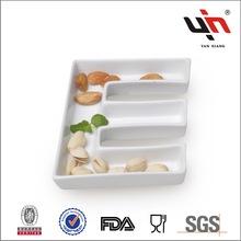 Y1368 New Design Super White Ceramic Letter Dish E