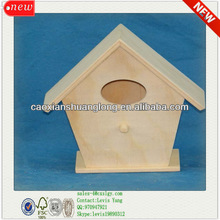 New Natural Usage Cheap Wholesale Antique New Unfinished Wooden Bird House Wholesale