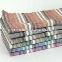 100% Acrylic shawl stole Winter Stripe & Border Korean woven SCARF C0068