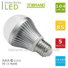 High CRI 104lm/W 2014 new e27 color changing led light bulb