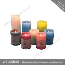 real wax LED scented muti-colors candle light/birthday candle