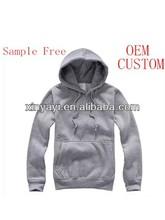 china wholesale bulk blank hoodie /custom made plain hoodie/factory price basic hoodie sample free