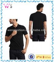 Wens lifestyle men black polo t-shirt