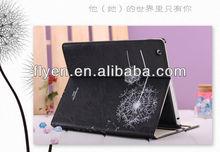 for ipad leather stand folio folding case,minion case for ipad 2 3 4,case for ipad 3