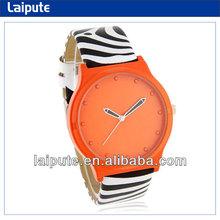 Wholesale Cheap Stylish Women's Analog Watch with Zebra Skin Pattern PU Leather Strap
