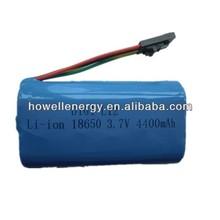 rechargeable battery led lantern li-ion 18650 1S2P 3.7V 4400mAh
