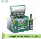 Portable Beer Bottle Cooler Bag/ Thermal Cooler/ Insulated Cooling Ice Bag