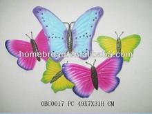 Home goods wall art supplier, designer decorative butterfly set
