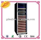 Mini Refrigerator Showcase,Compressor Vertical Glass Door Cooler,Counter Top Beer Can Cooler SRW-168S