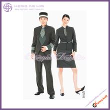 Printed doorman uniform in dark green for Hotel bellboy bellman doorboy doorman Uniform