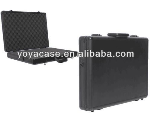 Black Aluminium Laptop Case 550x375x90mm with Customisable Foam Insert