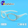2014 China factory white polka dot kids sunglass