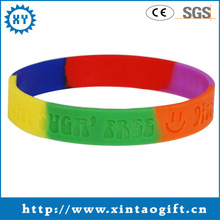 Colourful custom fashion round silicone rubber bands