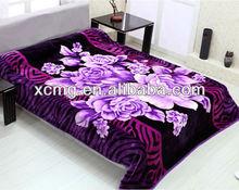 Korean quality 100% polyester bed sheet/polyester blanket bed sheet
