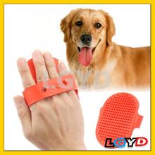 Wholesale price TPU Handheld Pet a Bath Massage Brush (Red)/pet accessory/dog brush