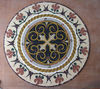 Floral tile round mosaic medallion floor patterns