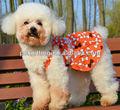 2014 mascotas ropa para perros a la moda nuevo vestido del animal doméstico naranja falda de la liga